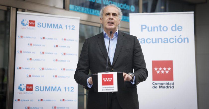 Madri lança sistema piloto para agendamento de vacinação contra Covid-19