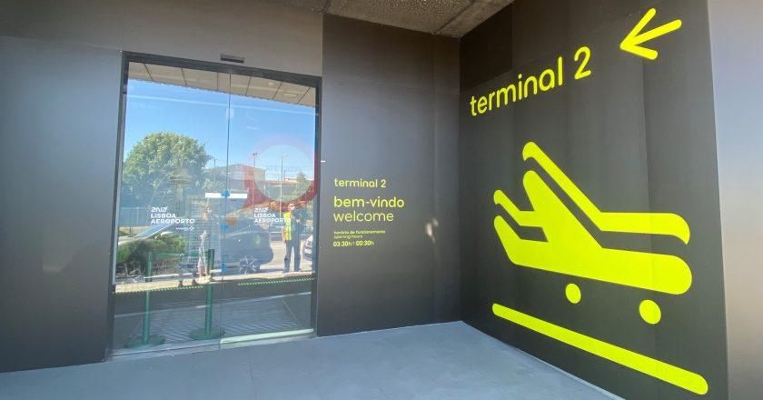 Aeroporto de Lisboa reabre terminal fechado durante a pandemia