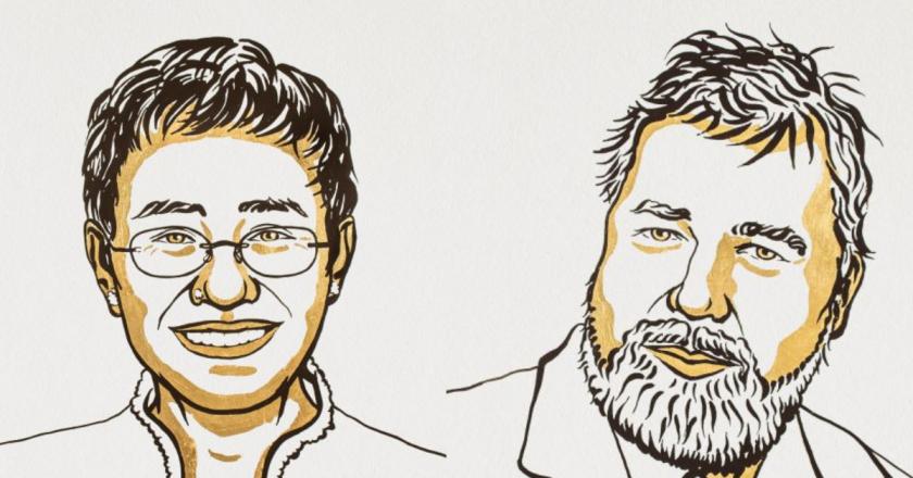 Nobel da Paz premia jornalistas que lutam pela liberdade de expressão